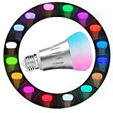 ICAMI Smart Bulb Smart LED Night Light Bulbs 16 Million Multi-Color Dimmable Work with Alexa Wi-Fi Remote Control 7 Watts(60 Watts Equivalent) No Hub Need