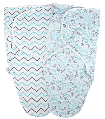 Have Swaddle Bee (Benvax Baby Swaddle Wrap Blanket, Adjustable Sleep Sacks for Infant, Baby, Newborn (Chevron-Leaves))