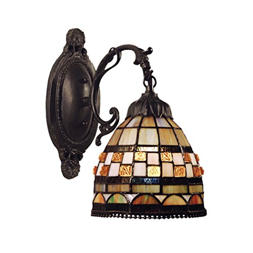 Jewelstone 1 Light (Alumbrada Collection Jewelstone 1 Light Wall Sconce In Classic Bronze)
