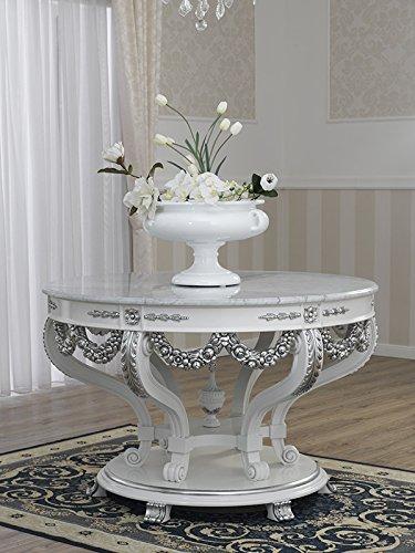 Tavolo Imperiale Stile Barocco Moderno Bianco Laccato e Foglia ...