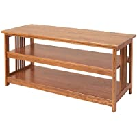 Manchester Wood Mission 48 Media Stand - Golden Oak
