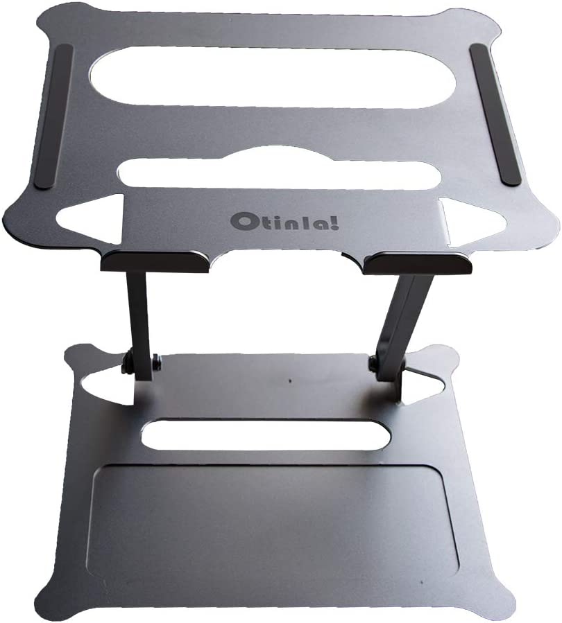 Otinlai Laptop Stand for Desk, Adjustable Laptop Stand Portable Laptop Stand, Made of Aluminum, Super Stable, Compatible with Laptops Under 15.6 inches, Suitable for Office and Home(Silver)