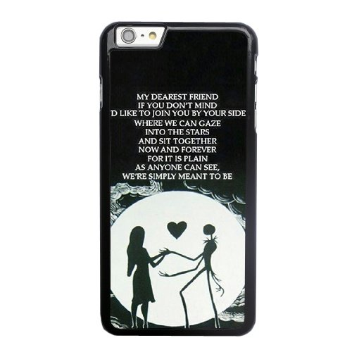 Coque,Apple Coque iphone 6 6S (4.7 pouce) Case Coque, Night Before Christmas Jack Phone Case Cover for Apple Coque iphone 6 6S (4.7 pouce) Noir Plastic Ultra Slim Cover Case Cover
