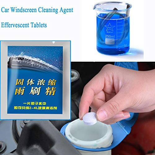 Car Window Cleaning, 10Pcs Concentrated Effervescent Tablets Car Care Windshield Glass Cleaner (5 Pcs) -  Euone
