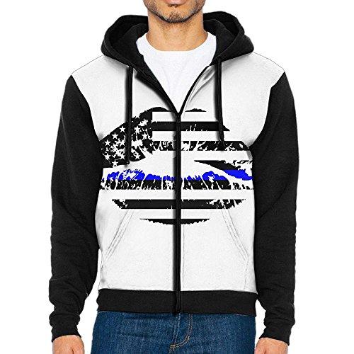 Burgundy Lines Full Zip Jacket (ShaVonNa Men's Full-zip Zipper Hoodie Blue Line Lips Hooded Sweatshirt Sportswear Jackets With Pockets)