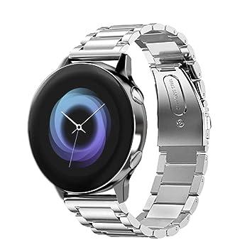VICARA Compatible para Samsung Galaxy Watch Active (40mm) Banda, Correa de reemplazo de Banda de Acero Inoxidable Compatible Samsung Galaxy Watch ...