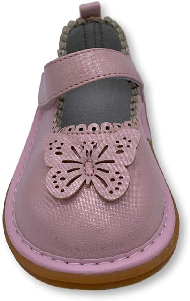 Wee Squeak Girls Toddler Squeaky Shoes with Removable Squeaker