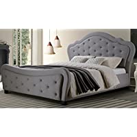 Best Quality Furniture Cal King Bed, California King, Gray