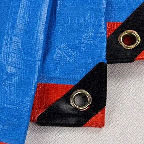 面白い編集するお香CHAOXIANG ターポリン サンシェード 厚い 絶縁 耐摩耗性 ポンチョ 不凍液 PE, 厚さ0.30mm、 22サイズ カスタマイズ可能な (色 : Blue orange, サイズ さいず : 5.8x6.8m)