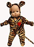 Tiger Halloween Costume fits Baby Doll And 14 Inch Cabbage Patch Kid