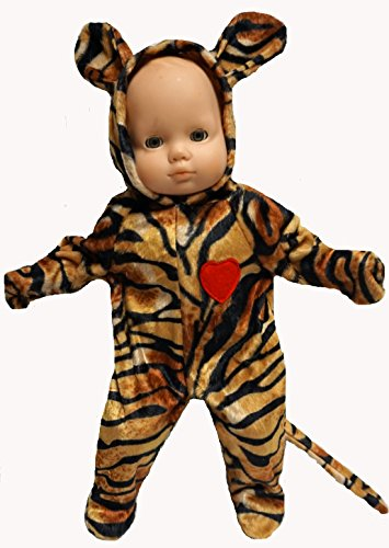 Tiger Halloween Costume fits Baby Doll and 14 Inch Cabbage Patch -