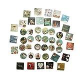 46Pcs Christmas Pattern Greeting Mini Paper Sticker Decoration DIY Diary Scrapbooking Seal