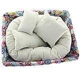 Susenstone 4 PC Newborn Photography Basket Filler Wheat Donut Posing Props Baby Pillow