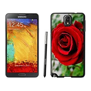 NEW Unique Custom Designed For Case Samsung Note 3 Cover Phone Case With Red Rose Close Up_Black Phone Case