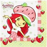 "Amscan Pretty Strawberry Shortcake Birthday Party Beverage Napkins Tableware  (16 Pack), 5.5"" x 5.5"", Multicolor"