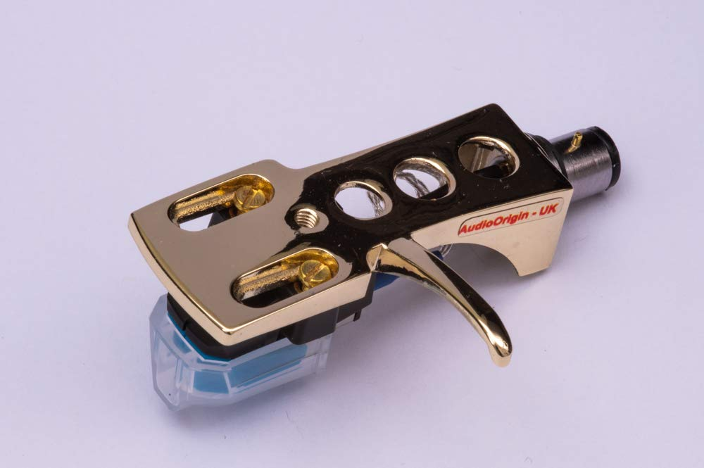 Gold plated Headshell, cartridge, needle for ROTEL RP-5300, RP-3000, RP-900, RP-300, RP-6300, - MADE IN ENGLAND