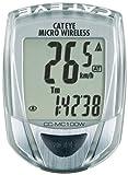 Cateye CC-MC100W Micro Wireless 10-Function Bicycle Computer (Silver)