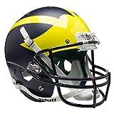 NCAA Michigan Wolverines Replica Helmet, One Size, White
