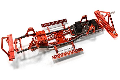 Integy RC Model Hop-ups C26937RED Composite Ladder Frame Chassis Kit w/Hop-up Combo for SCX-10, Dingo Honcho Jeep