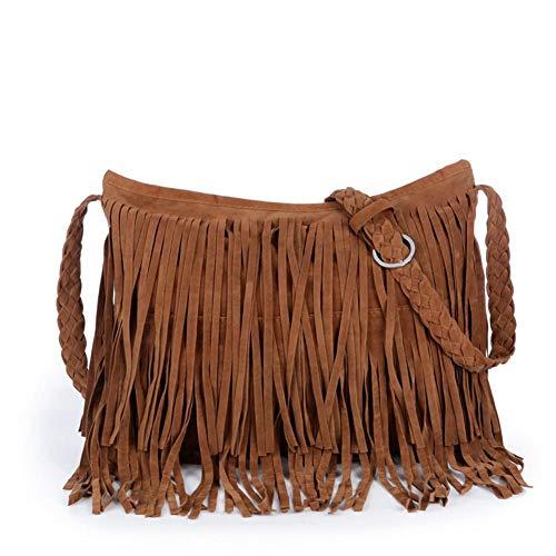 Vrouw Kunstleder Mode Crossbody Populaire tas Kwastje Vintage Messenger Crossbody Persoonlijkheid kameel wx7Hqq