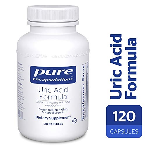 Pure Encapsulations - Uric Acid Formula - Hypoallergenic Supplement with Vitamins and Herbal Extracts to Support Healthy Uric Acid Metabolism* - 120 Capsules (Best Food For Uric Acid)