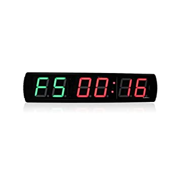 LED temporizador de intervalos de gimnasio CrossFit – wg061803 LED reloj Digital DEPORTE interior temporizador de