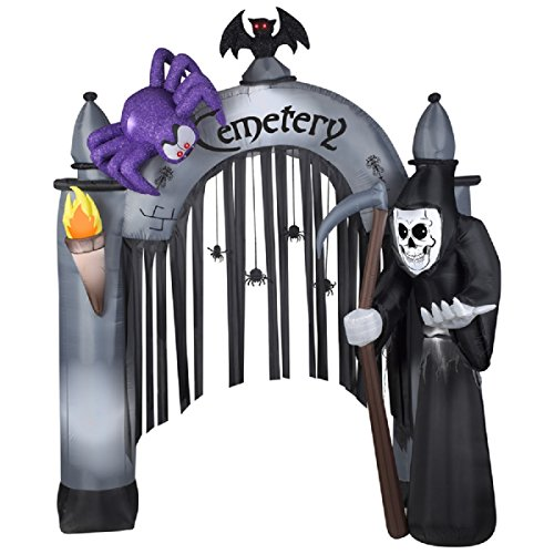 HALLOWEEN INFLATABLE 9' REAPER ARCHWAY