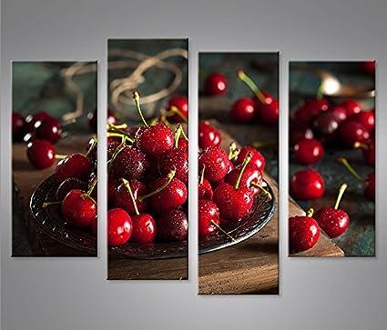 Quadro moderno lavabo Cerezas Frutas Kitchen Impresión sobre ...