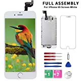 Wireless : for iPhone 6s ScreenReplacement White with Home Button+FrontCamera+Earpiece+Speaker, Diykitpl 3D Touch Digitizer Replacement Screen for iPhone 6s Model A1633/A1688/A1700 Full Assembly Repair Tool