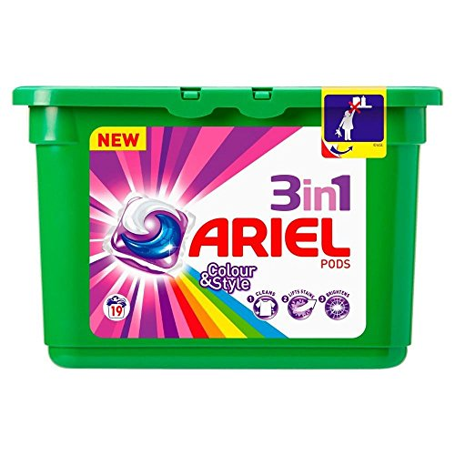 Ariel 3in1 Pods Colour & Style - 19 Washes (19) - Pack of 6 by ARIEL