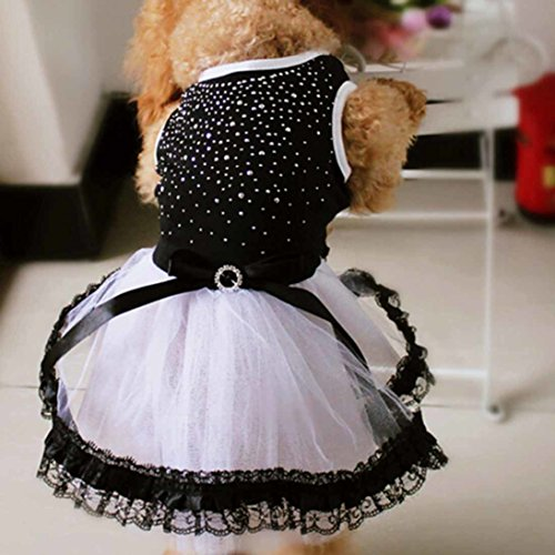 Picture of HP95(TM Fashion Pet Dog Puppy Tutu Dress Princess Fluffy Wedding Lace Skirt Clothes Apparel (L)