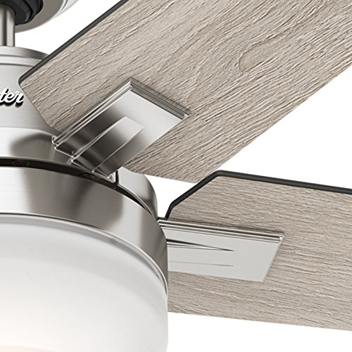 Hunter 54″ Brushed Nickel Contemporary Ceiling Fan With
