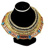 Cleopatra Necklace Collar ancient Egyptian queen costume jewelry belly dance by CraftsOfEgypt