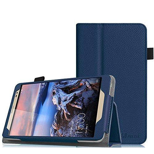 Fintie Huawei MediaPad X2 7.0 Hülle - Slim Fit Kunstleder (Folio) Schutzhülle Tasche Case Cover Standfunktion und Stylus-Halterung für Huawei MediaPad X2 7 Zoll LTE / WiFi Tablet-PC, Marineblau