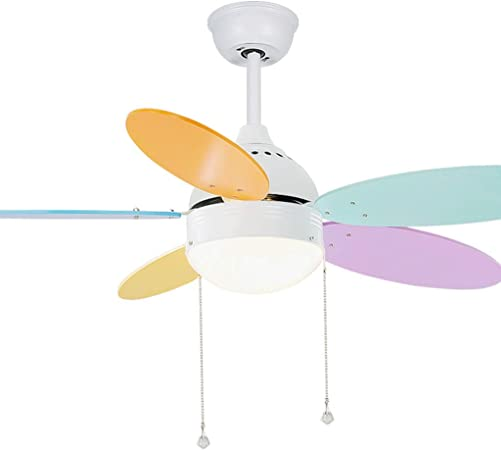 GX Ventiladores de techo Con control remoto LED Lámpara de ventilador sigilosa, Jardín de infantes Dormitorio infantil Comedor Luz de ventilador de techo (Color : A): Amazon.es: Hogar