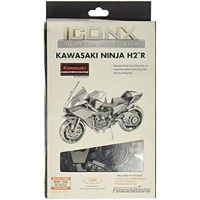 Metal Earth 3D Model Kit–5061301Iconx–Kawasaki Ninja 12.19x 5.08x 7.62cm, 2Pieces: Toys & Games