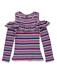 Star Ride Girls' L/S Cold Shoulder Top