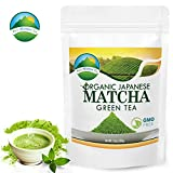 Matcha Green Tea Powder, Japanese Organic Premium Drinking Quality, Antioxidant, Enhance Metabolism, Healthy Diet and Lifestyle, Latte Smoothie Energy Booster Drink from Japan by Pure Mountain Tea