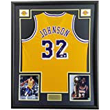 Magic Johnson Yellow Jersey Autographed