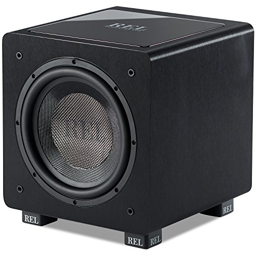 Firing Active Subwoofer Down (REL Acoustics HT/1003 Subwoofer, HT-Air Wireless Compatible, Line Grained Black Composite)