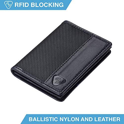 Lewis N. Clark Ballistic Nylon RFID Wallets for Women + Men, Travel Accessories 2 Credit Card Slot, 1 ID Sleeve Wallet, -
