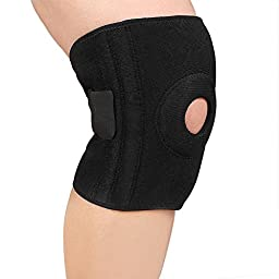 Knee Brace, XIXOV Knee Compression Sleeve Support for Running, Biking, Basketball, Arthritis, Meniscus Tear, Sports, Athletic - Breathable & Adjustable Size, Single