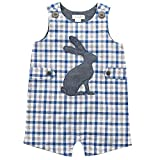 6 month mud pie - Mud Pie Baby Boys Easter Gingham Sleeveless One Piece Shortall, Blue, 3-6 Months