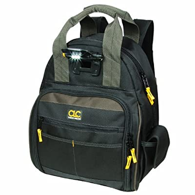 Custom Leathercraft L255 Tech Gear 53 Pocket Lighted Back Pack