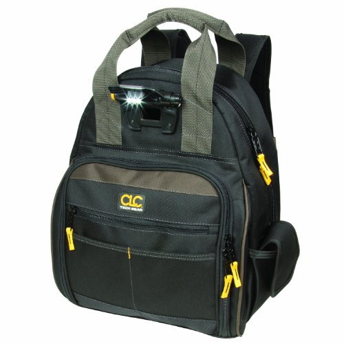 Gear Custom (CLC Custom Leathercraft L255 Tech Gear 53 Pocket Lighted Back Pack)