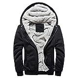 Jacket Warm Fleece Hoodie Men Christmas Halloween Christmas Eve Mens Autumn Winter Mens Hoodie Winter Zipper Sweater Jacket Outwear Coat