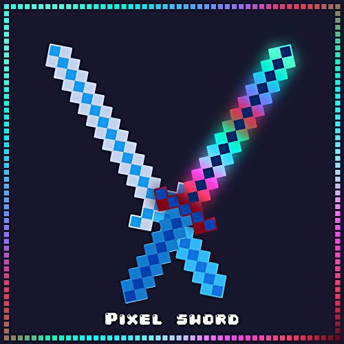 (Fun Central LED Light Up Pixel 8-Bit Toy Sword for Kids)