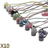 JustJamz 2.0 Jelly Matte Colorful In-Ear Earbud Headphones 3.5mm Stereo Multi-Color 10 Pack