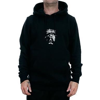 Stussy Tribe Man Applique Hooded Sweatshirt Black  Amazon.co.uk ... 2e42fd712763