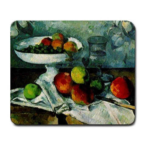Price comparison product image Paul Cezanne Still Life With Compotier Painting Mouse Pad